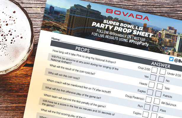 Get The Party Started With The Super Bowl LII Party Prop Sheet