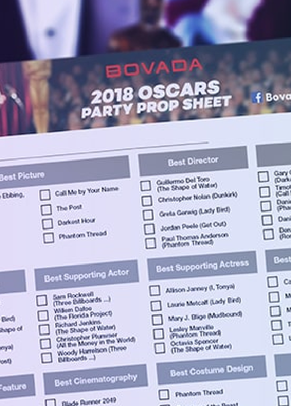 2018 oscars party prop sheet