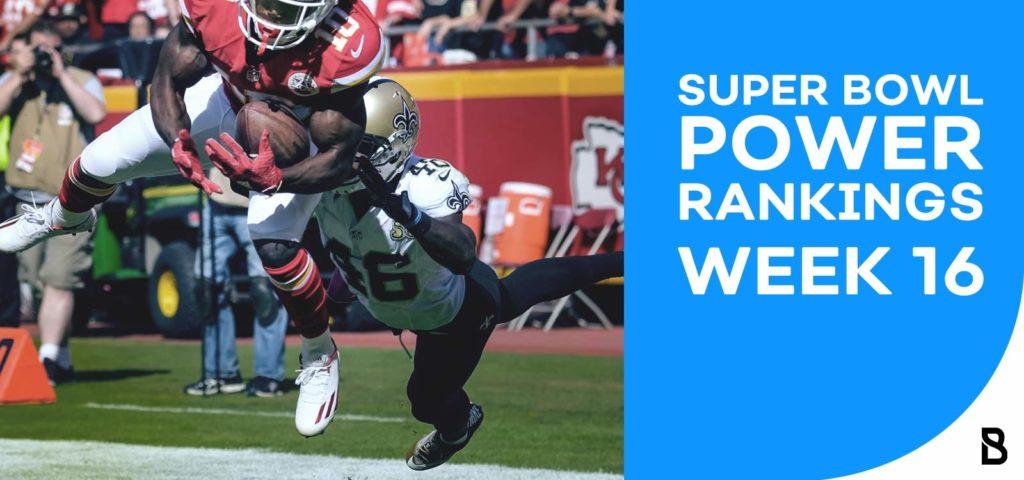 Power Ranking - Week 16